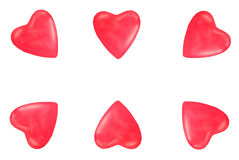 Валентайн красного цвета сердца граници Стоковое Изображение