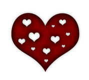 Валентайн красного цвета сердца иллюстрация штока