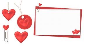 Валентайн красного цвета установленное бесплатная иллюстрация