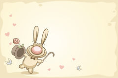 Валентайн кролика s потехи дня Стоковые Изображения