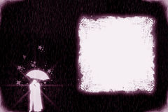 Валентайн любовников grunge карточки Стоковая Фотография RF
