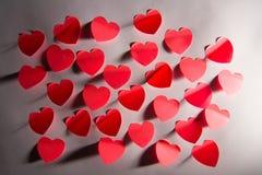 Валентайн номера s сердец Стоковые Фото