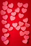 Валентайн номера s сердец Стоковое фото RF