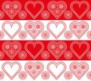 Валентайн орнамента сердец Стоковое фото RF
