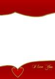 Валентайн открытки Стоковое Фото