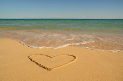 Валентайн пляжа Стоковая Фотография RF