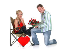 Валентайн предложения влюбленности Стоковые Изображения