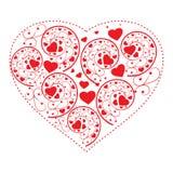 Валентайн предпосылки изолированное сердцем s стилизованное Стоковая Фотография