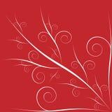 Валентайн предпосылки флористическое красное Стоковые Фото