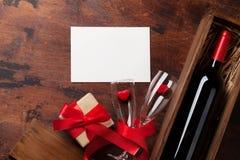 Валентайн приветствию s дня карточки стоковые фотографии rf