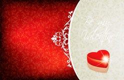 Валентайн приветствию s дня карточки Стоковое Фото