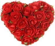Валентайн роз s сердца дня принципиальной схемы стоковые фотографии rf
