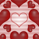 Валентайн сердец красное s дня предпосылки иллюстрация штока