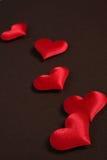 Валентайн сердец красное s дня Стоковые Изображения RF