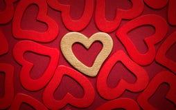 Валентайн сердец предпосылки Стоковое Изображение RF