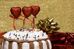 Валентайн сердец торта стоковое фото