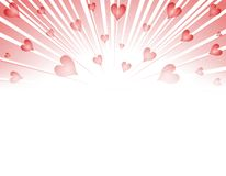 Валентайн сердец феиэрверков взрыва Стоковая Фотография RF
