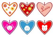 Валентайн сердец s иллюстрация вектора