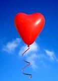Валентайн сердца воздушного шара Стоковые Изображения