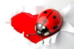 Валентайн сердца предпосылки Стоковые Фото