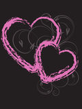 Валентайн сердца иллюстрация вектора