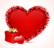 Валентайн сердца s подарка дня карточки иллюстрация вектора