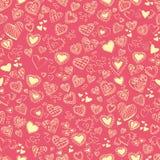 Валентайн текстуры сердец s дня безшовное Стоковое Изображение RF