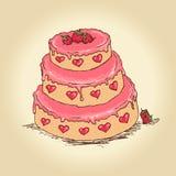 Валентайн торта Стоковое Изображение