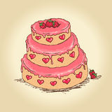 Валентайн торта иллюстрация штока