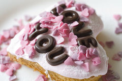 Валентайн торта стоковое изображение rf