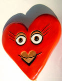 Валентайн усмешки сердца стоковое фото rf