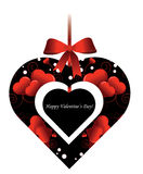 Валентайн формы сердца s элемента дня декоративное Стоковое Изображение