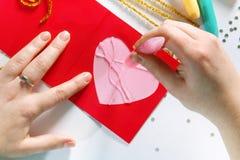 Валентайн цвета карточки стоковая фотография