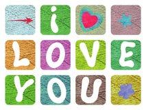 Валентинка с объявлением влюбленности для ` s валентинки St Стоковое Изображение
