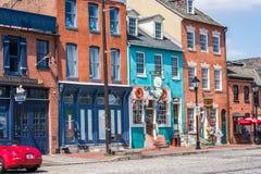 Валит портовый район кантона пункта в Балтиморе, Мэриленде Стоковое фото RF