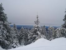 26 валов составного цифрового огромного размера съемки mpix панорамного снежных Стоковое Изображение