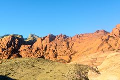 Валуны в красном каньоне утеса Стоковые Изображения RF