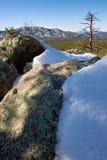 валуны покрыли снежок Стоковая Фотография RF