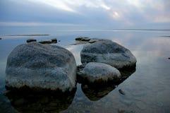 валун пляжа Стоковые Изображения RF