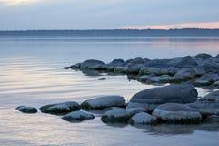 валун пляжа Стоковое Изображение