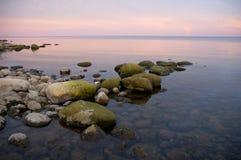 валун пляжа Стоковые Изображения