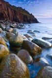 валун пляжа Стоковые Фотографии RF