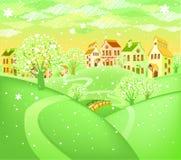 валы весны ландшафта цветения Стоковые Фото