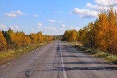 валы дороги осени старые залатанные Стоковая Фотография RF