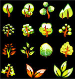 валы икон окружающей среды лоснистые Стоковые Фотографии RF