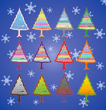 валы рождества цветастые Стоковые Изображения