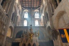 Валы собора Винчестер света стоковая фотография