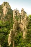 валы сосенки huangshan скал фарфора крутые Стоковое фото RF