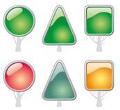 валы формы кнопок Стоковые Фотографии RF
