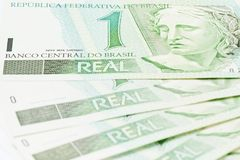 Валюта бразильянина 1 BRL Стоковое фото RF